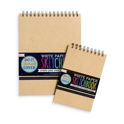 Kolli: 12 DIY Sketchbook - Small - White