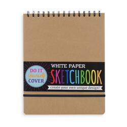 Kolli: 6 DIY Sketchbook - Large - White