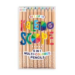 Kolli: 6 Kaleidoscope Multi Colored Pencils - Set of 10