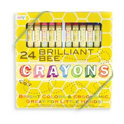 Kolli: 6 Brilliant Bee Crayons - Set of 24