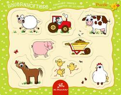 Kolli: 1 Googly eye puzzle - Farmyard animals character non-related