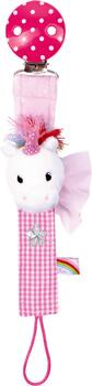Kolli: 3 Soother Ribbon Unicorn Baby Charms