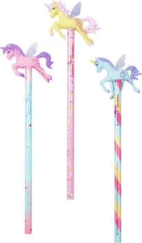 Kolli: 18 Pencil with topper Unicorn Paradise
