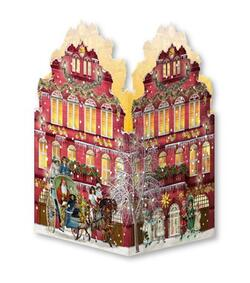 Kolli: 24 Nostalgic Christmas Houses- Mini Advent Lantern- For Export