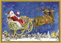 Kolli: 3 Nostalgic Christmas Sleigh- For Export
