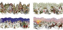 Kolli: 24 Nostalgic Leporello Fold Cards - Mini Advent Calendars - For Export