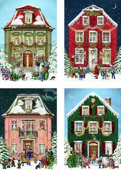 Kolli: 24 Victorian Christmas Houses Advent Calendar