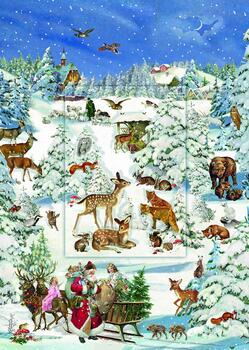 Kolli: 3 Animals In The Snow - Lenticular  Panel