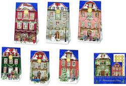 Kolli: 1 24 Advent Calendar Bags - Victorian Houses