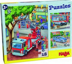Kolli: 4 Puzzles Police, fire department & friends