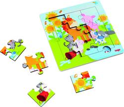 Kolli: 4 Framed Wooden Puzzle Animal friends