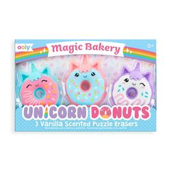 Kolli: 18 Unicorn Donuts Scented Erasers - set of 3