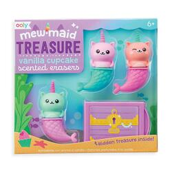 Kolli: 18 Mewmaid Treasure Scented Erasers - set of 4