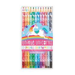 Kolli: 6 Unique Unicorns Erasable Colored Pencils - Set of 12