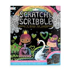 Kolli: 6 Scratch & Scribble Art Kit - Princess Garden