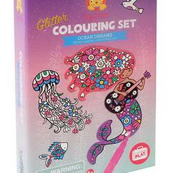 Kolli: 2 Glitter Colouring Sets/Ocean Dreams