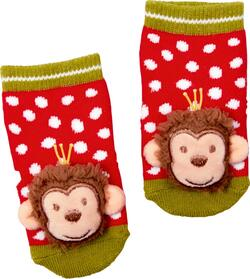 Kolli: 4 Rattle socks - monkey