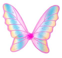 Kolli: 2 Glitter Rainbow Wings, Multi/Fuchsia