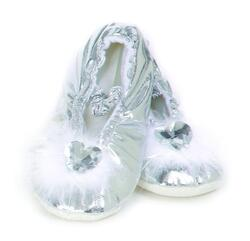 Kolli: 2 Princess Slipper Silver LG 12-13