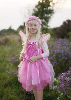 Kolli: 2 Forest Fairy Tunic, Dk Pink, Size 3-4