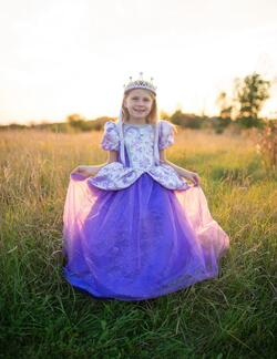 Kolli: 1 Royal Pretty Princess Dress, Lilac, Size 3-4