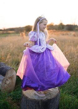 Kolli: 1 Royal Pretty Princess Dress, Lilac, Size 7-8