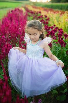 Kolli: 2 Sequins Princess Dress, Lilac, Size 3-4