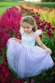 Kolli: 1 Sequins Princess Dress, Lilac, Size 7-8