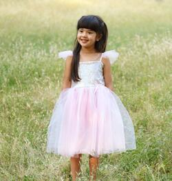 Kolli: 1 Sequins Princess Dress, Silver, Size 3-4