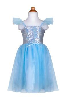 Kolli: 2 Sequins Princess Dress, Blue, Size 3-4