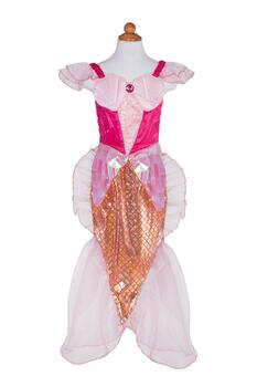 Kolli: 2 Mermaid Dress & Headband, Pink, Size 3-4