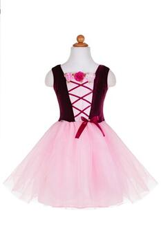 Kolli: 1 Ribbon and Rose Dress Burg, SIZE US 3-4