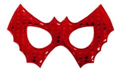 Kolli: 2 Red Bat Cape w/ Sequins Mask, SIZE US 5-6