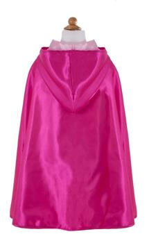 Kolli: 2 Rev. Hooded Princess Cape, Lt Pink/Ht Pink, Size 5-7