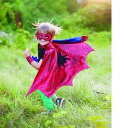 Kolli: 2 Spider Cape with Mask & Wristbands, Size 3-4