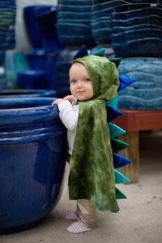 Kolli: 2 Dragon Baby Cape, Green/Blue, Size 12-24M
