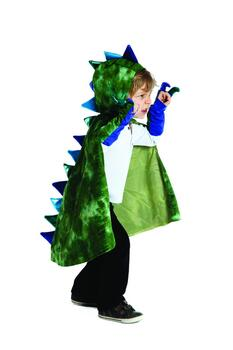 Kolli: 2 Dragon Cape with Claws, Green/Blue,  Size 5-6