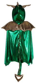 Kolli: 2 Dragon Cape, Green/Gold, Size 5-6