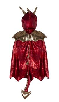 Kolli: 2 Dragon Cape, Red/Gold, Size 5-6