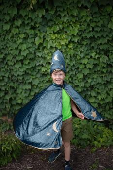 Kolli: 2 Starry Night Wizard Cape & Hat, Size 5-6