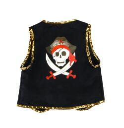 Kolli: 2 Pirate Vest & Eye Patch, Size 4-7