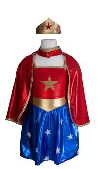 Kolli: 2 Superhero Girl (Tunic, Cape and headpiece), SIZE US 5-7  *Limited Edition*