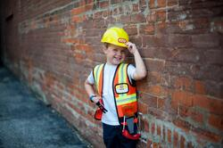 Kolli: 2 Construction Worker Set Includes 7 Accessories, Size 5-6