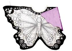 Kolli: 2 Colour-A-Butterfly Wings, Size 4-7, Boxed