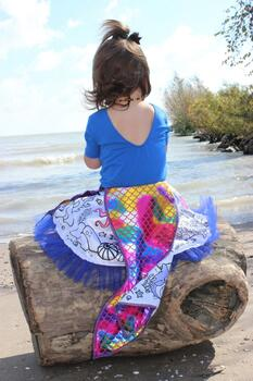 Kolli: 2 Colour-A-Skirt Mermaid, Reversible, Size 4-6