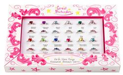 Kolli: 24 Birthstone Rings, 24 Pcs, Assorted
