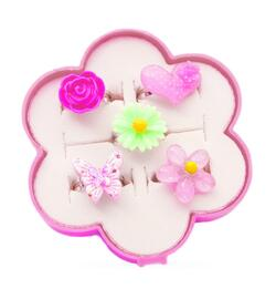 Kolli: 1 Fairy Flower Ring Set 5 Pcs