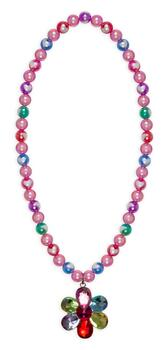 Kolli: 6 Flower Gem Bead Necklace