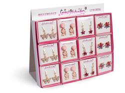 Kolli: 24 Clip On Earrings, Assorted, PDQ Display, 24 Pcs