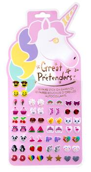Kolli: 6 Unicorn Sticker Earrings - 60 Pcs Carded